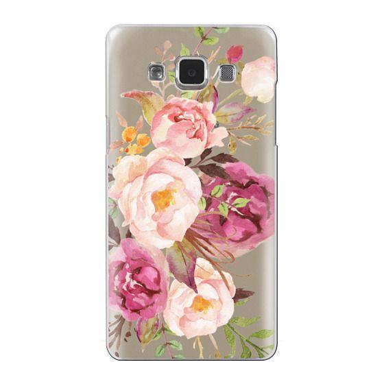 Samsung Galaxy A5 Cases - Watercolour Floral Bouquet - Transparent