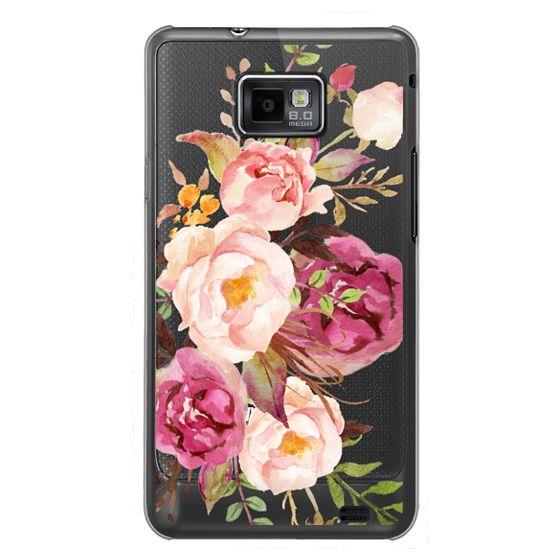 Samsung Galaxy S2 Cases - Watercolour Floral Bouquet - Transparent