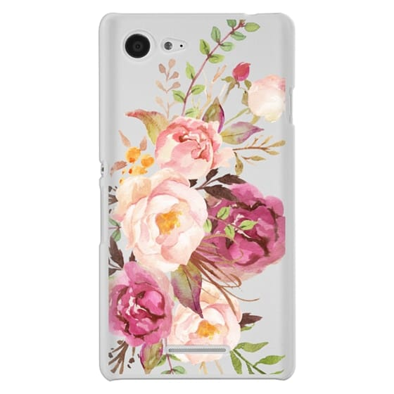 Sony E3 Cases - Watercolour Floral Bouquet - Transparent