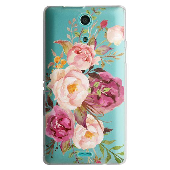 Sony Zr Cases - Watercolour Floral Bouquet - Transparent
