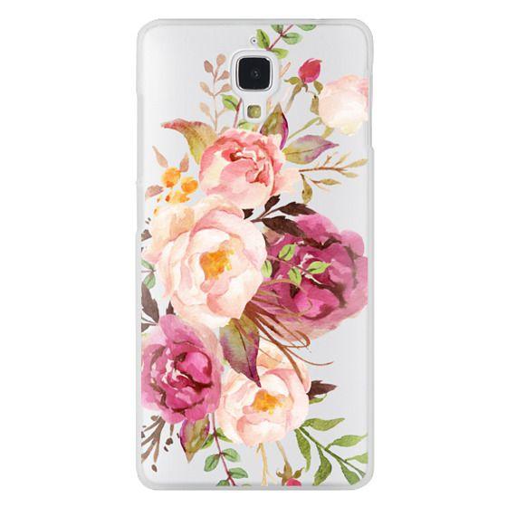 Xiaomi 4 Cases - Watercolour Floral Bouquet - Transparent