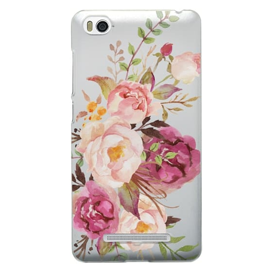 Xiaomi 4i Cases - Watercolour Floral Bouquet - Transparent