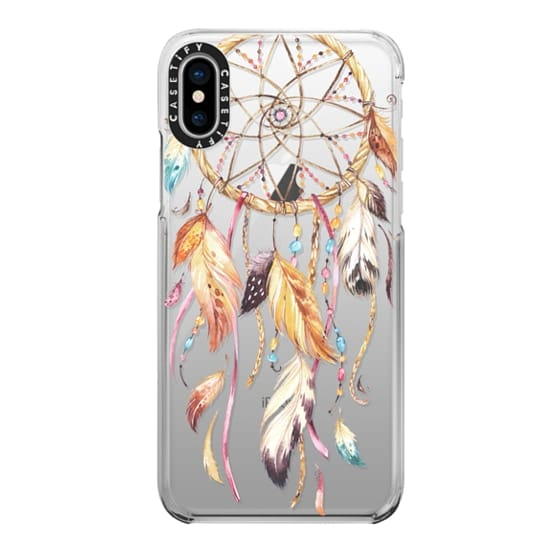 iPhone X Cases - Watercolor Dreamcatcher Feather Dream Catcher