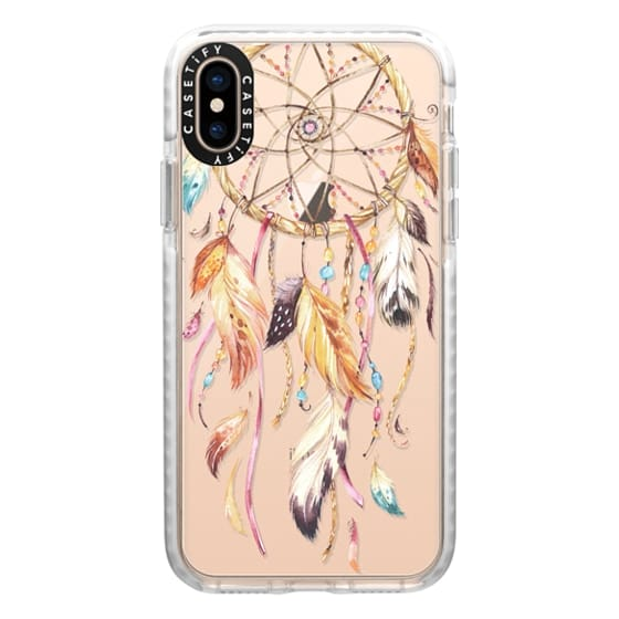 iPhone XS Cases - Watercolor Dreamcatcher Feather Dream Catcher