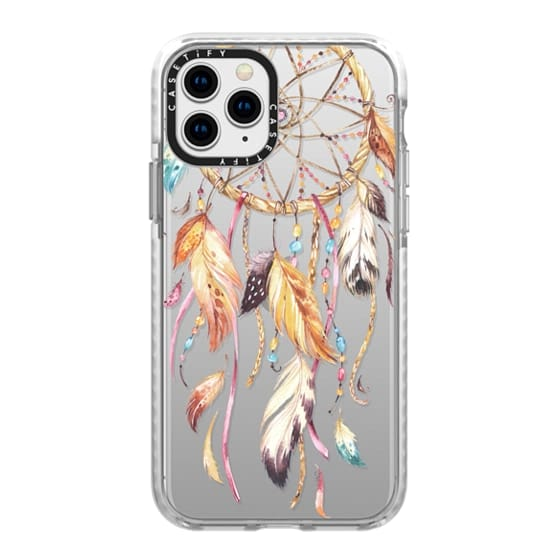 iPhone 11 Pro Cases - Watercolor Dreamcatcher Feather Dream Catcher
