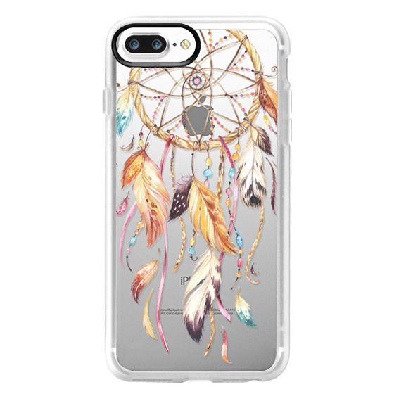 iPhone 7 Plus Cases - Watercolor Dreamcatcher Feather Dream Catcher