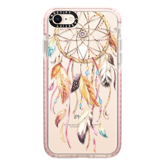 iPhone 8 Cases - Watercolor Dreamcatcher Feather Dream Catcher