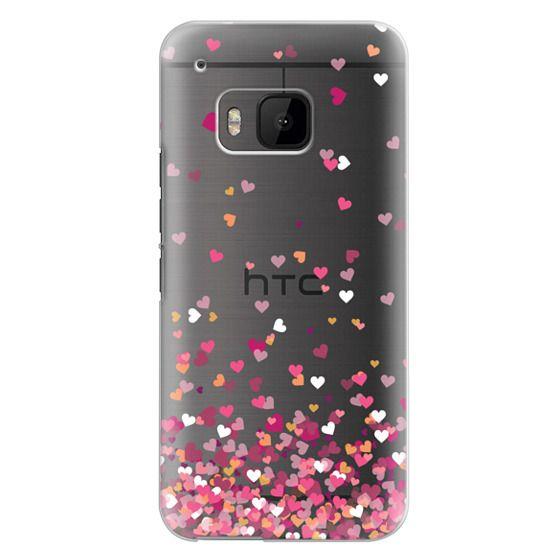 Htc One M9 Cases - Confetti Hearts