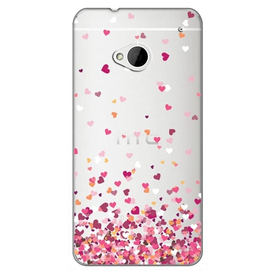 Htc One Cases - Confetti Hearts