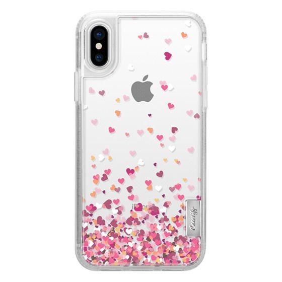 iPhone X Cases - Confetti Hearts
