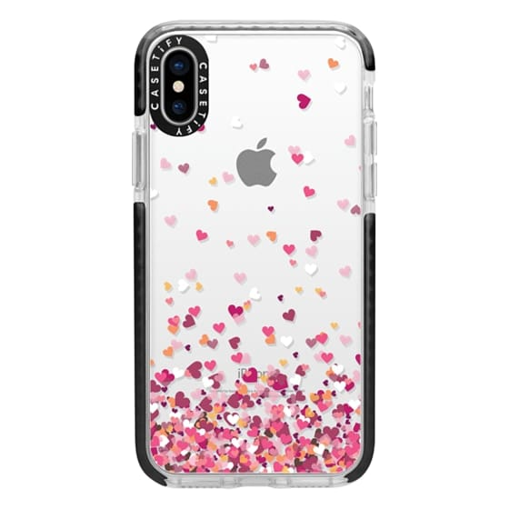 iPhone X Cases - Confetti Hearts