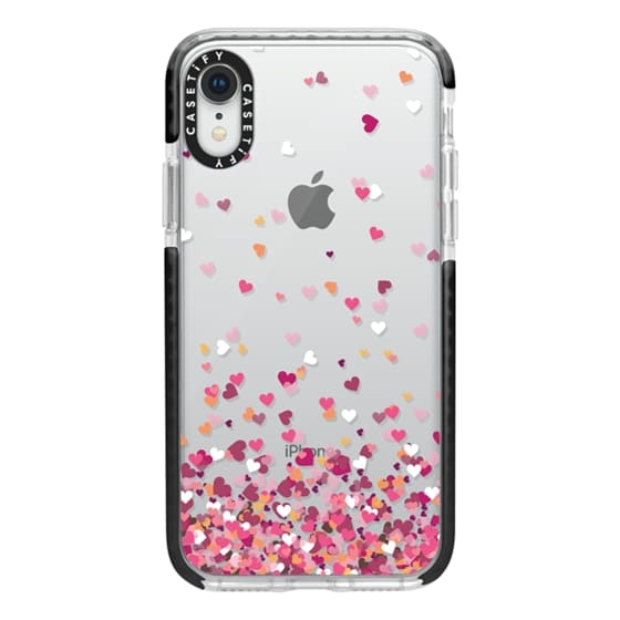 iPhone XR Cases - Confetti Hearts