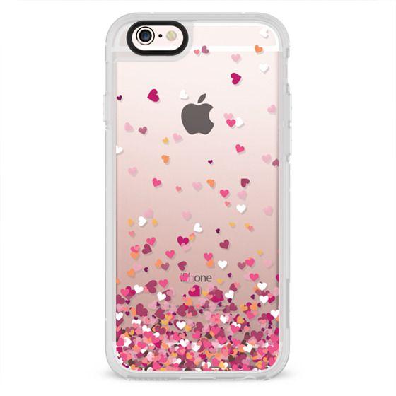 iPhone 4 Cases - Confetti Hearts
