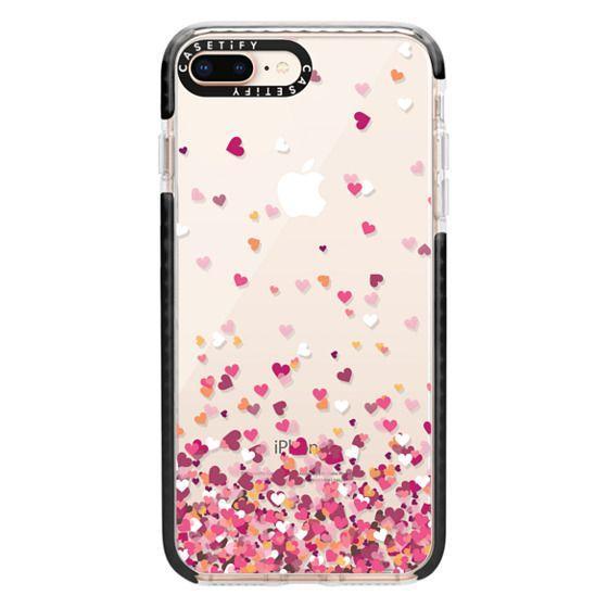 iPhone 8 Plus Cases - Confetti Hearts