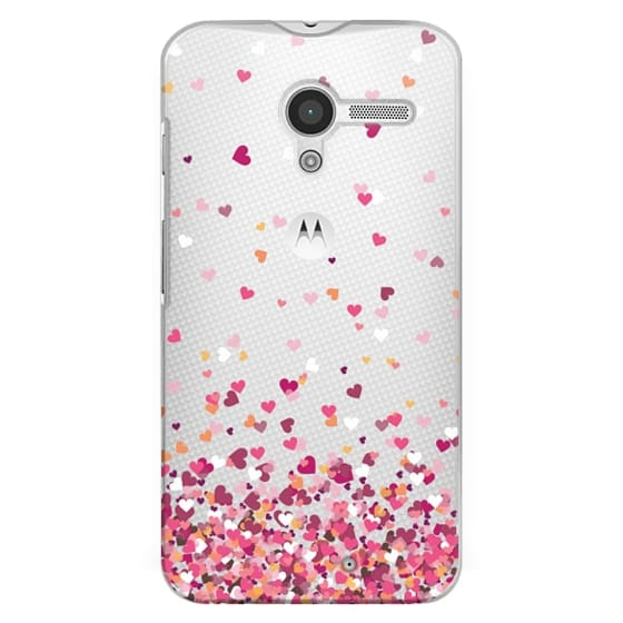 Moto X Cases - Confetti Hearts
