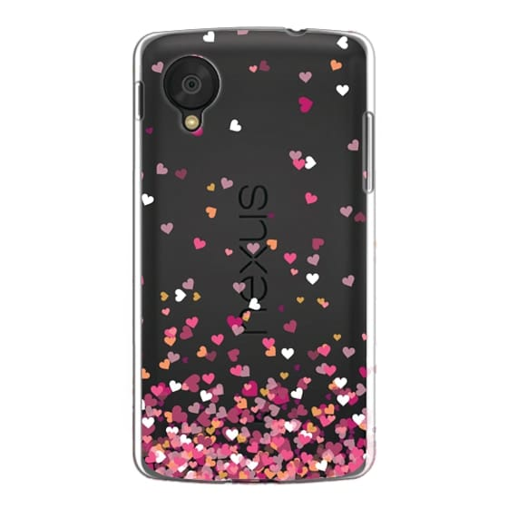 Nexus 5 Cases - Confetti Hearts