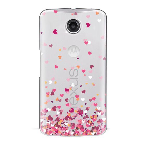 Nexus 6 Cases - Confetti Hearts