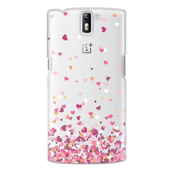One Plus One Cases - Confetti Hearts