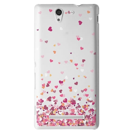 Sony C3 Cases - Confetti Hearts