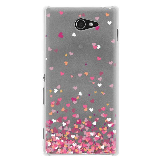 Sony M2 Cases - Confetti Hearts