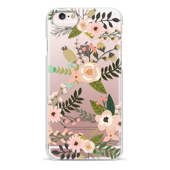 iPhone 6s Cases - Peachy Pink Florals - Trasparent