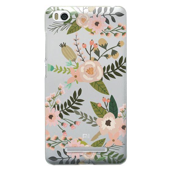 Xiaomi 4i Cases - Peachy Pink Florals - Trasparent