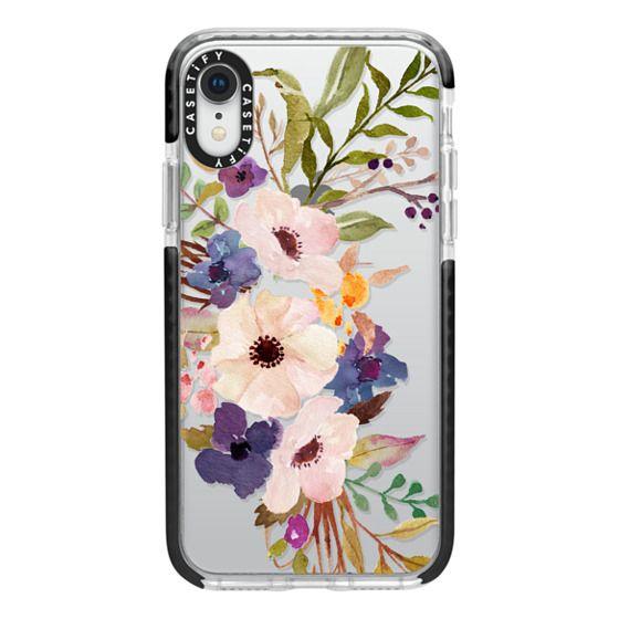 iPhone XR Cases - Watercolour Floral Bouquet 2 - Transparent