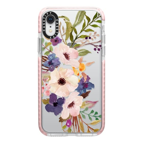 iPhone XR Cases - Watercolour Floral Bouquet 2 - Transparent