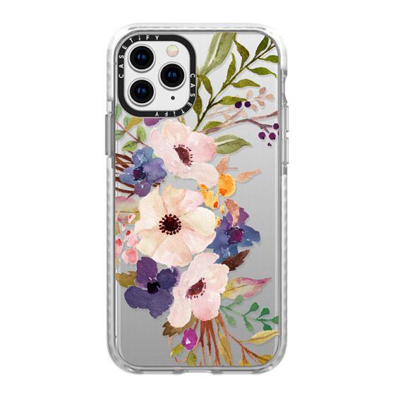 iPhone 11 Pro Cases - Watercolour Floral Bouquet 2 - Transparent