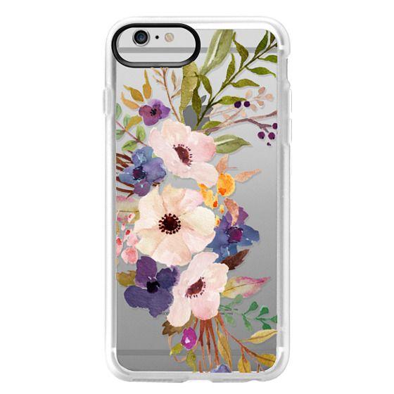 iPhone 6 Plus Cases - Watercolour Floral Bouquet 2 - Transparent