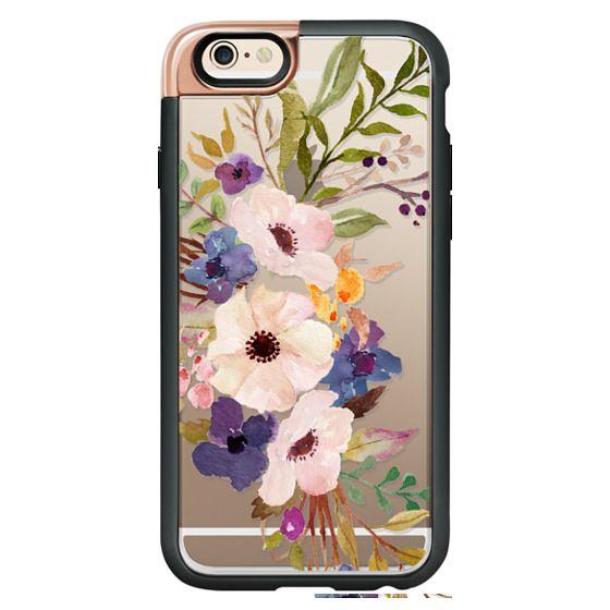 iPhone 6 Cases - Watercolour Floral Bouquet 2 - Transparent
