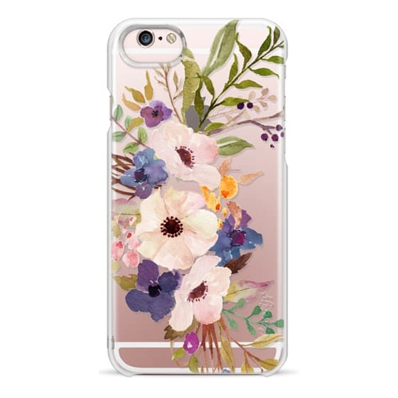 iPhone 6s Cases - Watercolour Floral Bouquet 2 - Transparent