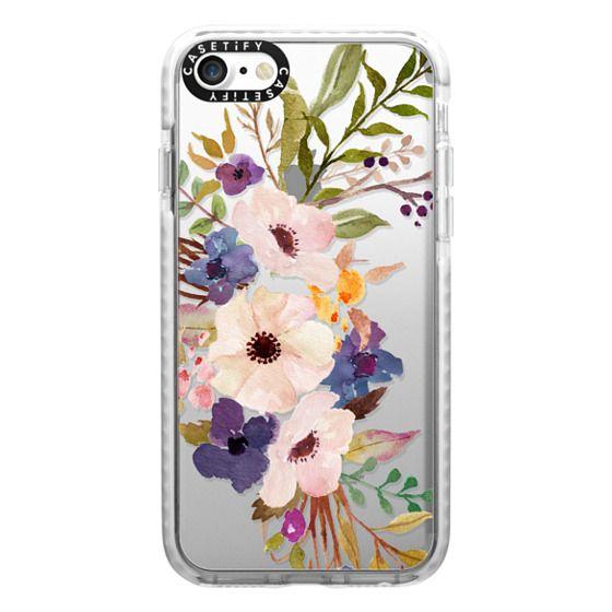 iPhone 7 Cases - Watercolour Floral Bouquet 2 - Transparent
