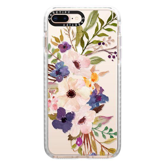 iPhone 8 Plus Cases - Watercolour Floral Bouquet 2 - Transparent