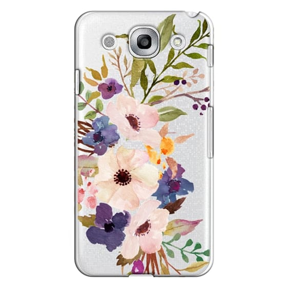 Optimus G Pro Cases - Watercolour Floral Bouquet 2 - Transparent