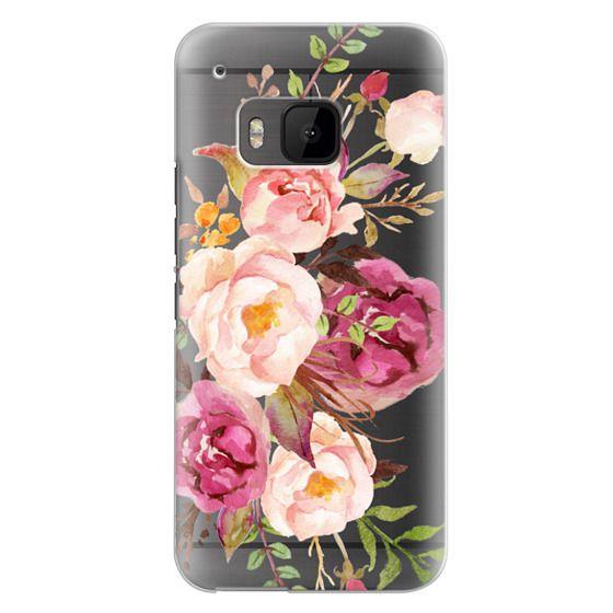 Htc One M9 Cases - Watercolour Floral Bouquet - Transparent