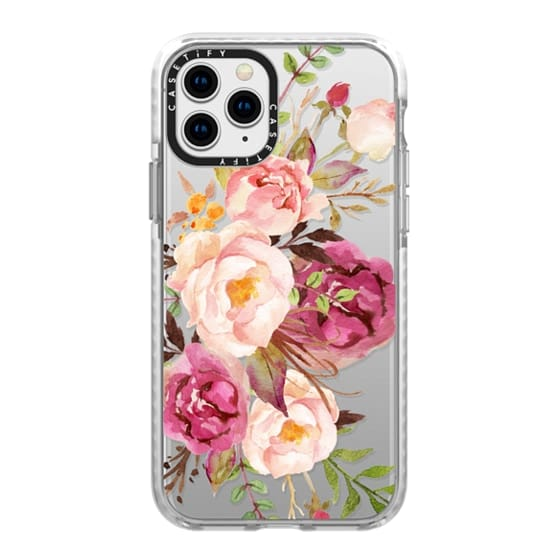 iPhone 11 Pro Cases - Watercolour Floral Bouquet - Transparent