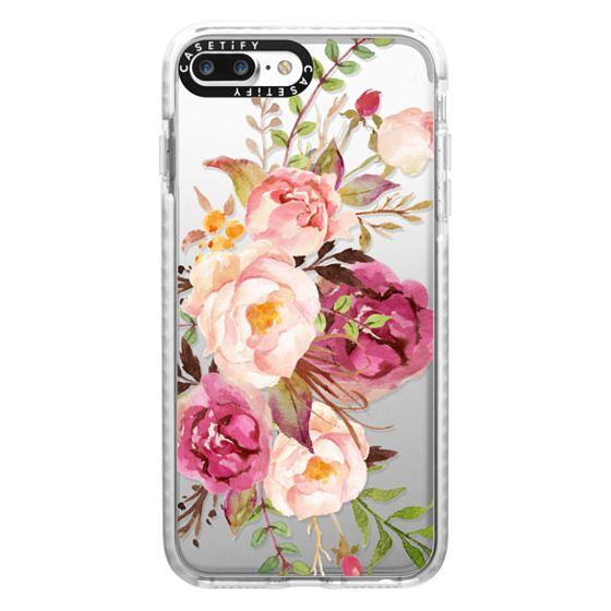 iPhone 7 Plus Cases - Watercolour Floral Bouquet - Transparent