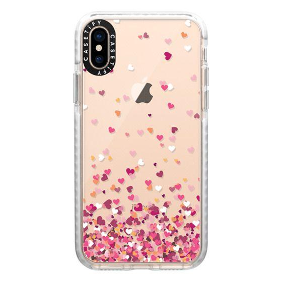 iPhone XS Cases - Confetti Hearts