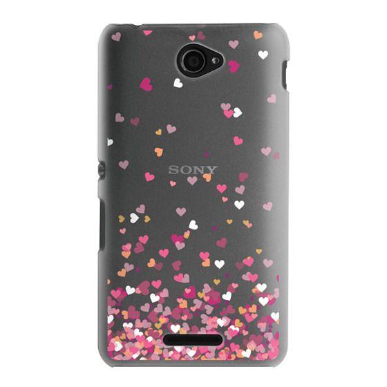 Sony E4 Cases - Confetti Hearts