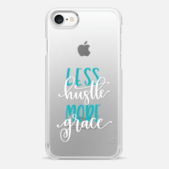Less Hustle, More Grace : White - Snap Case