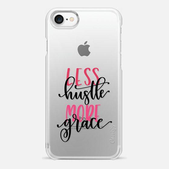 Less Hustle, More Grace : Black - Snap Case