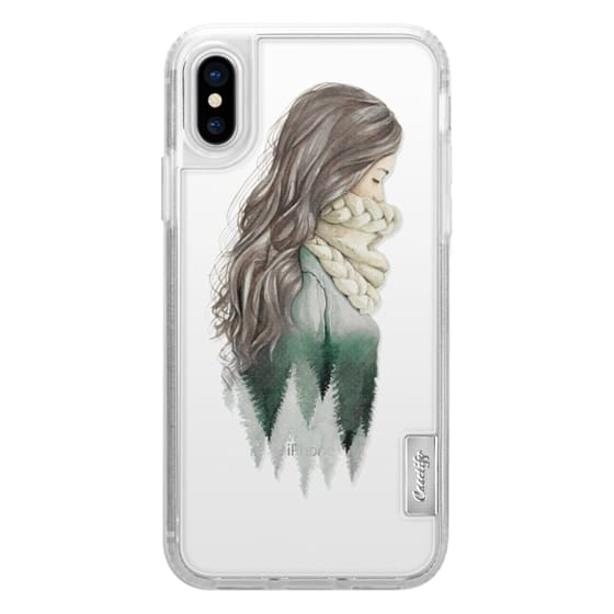iPhone X Cases - Forest girl- indie hipster ethno earth woods travel wanderlust