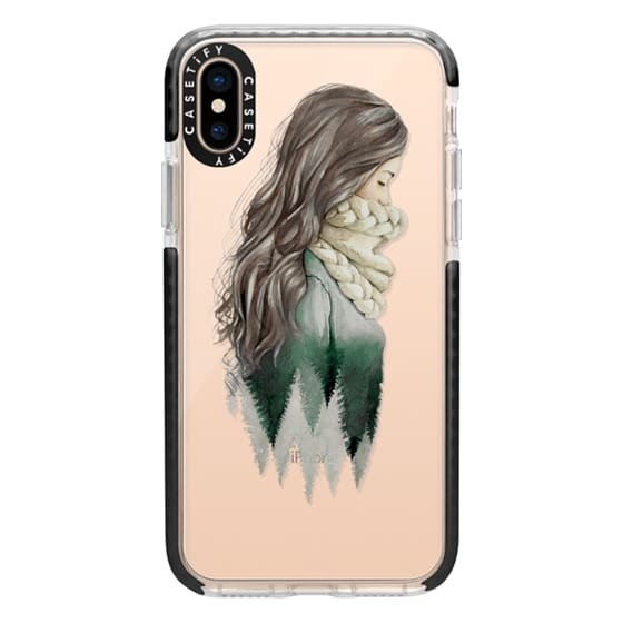 iPhone XS Cases - Forest girl- indie hipster ethno earth woods travel wanderlust