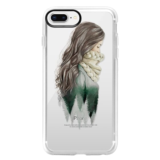 iPhone 8 Plus Cases - Forest girl- indie hipster ethno earth woods travel wanderlust