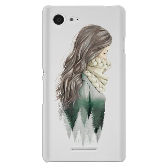 Sony E3 Cases - Forest girl- indie hipster ethno earth woods travel wanderlust