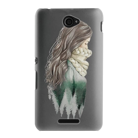 Sony E4 Cases - Forest girl- indie hipster ethno earth woods travel wanderlust