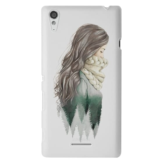 Sony T3 Cases - Forest girl- indie hipster ethno earth woods travel wanderlust