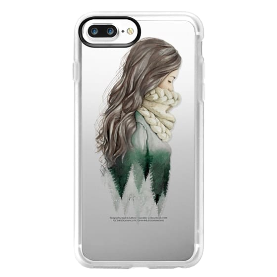 iPhone 7 Plus Cases - Forest girl- indie hipster ethno earth woods travel wanderlust