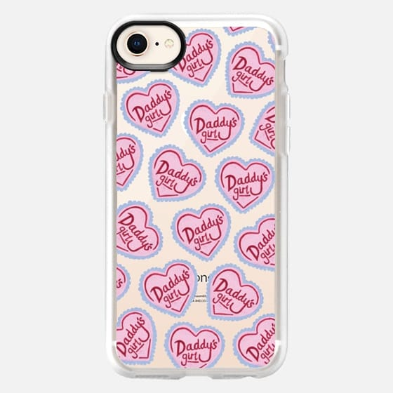 Daddy's Girl Pink Heart Spoilt  Cute Scattered - Snap Case